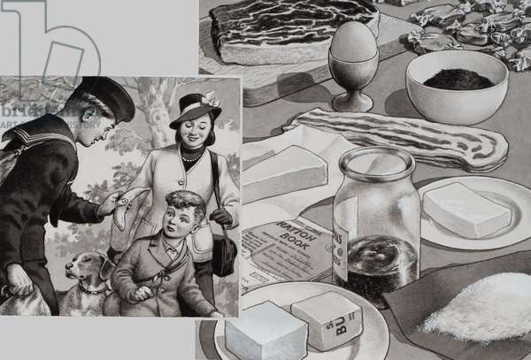 Wartime Rations (gouache on paper)