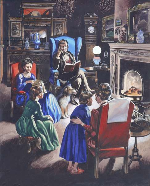 Growing Up Through The Ages: The Poor Little Rich Girls of Britain (gouache on paper)