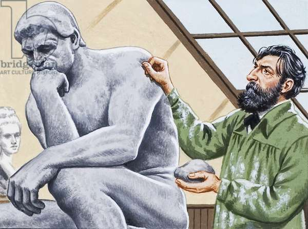 Rodin finishing 'The Thinker'