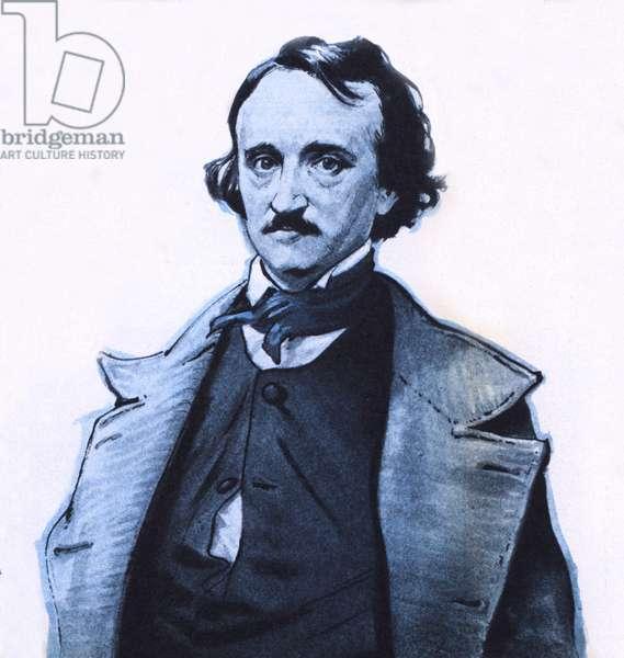 Edgar Allan Poe (colour litho)