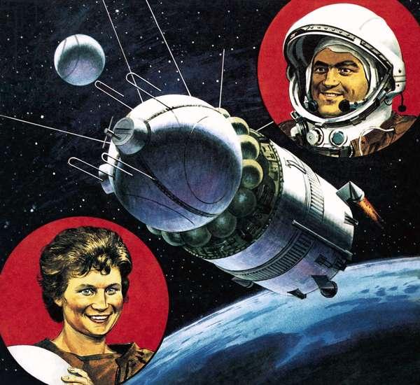 Andrian Nikolayev and Valentina Tereshkova