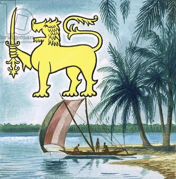 The emblem of Ceylon