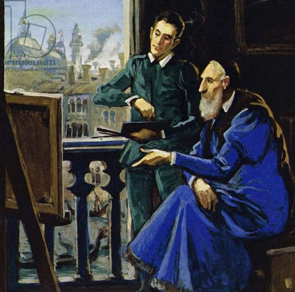 Dominico Theotocopuli, was better known to the world as El Greco (The Greek) (colour litho)