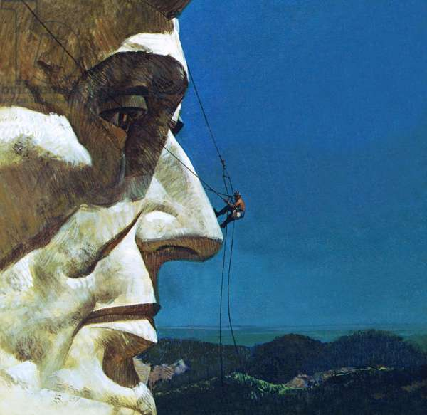 Abraham Lincoln's nose on the Mount Rushmore National Memorial