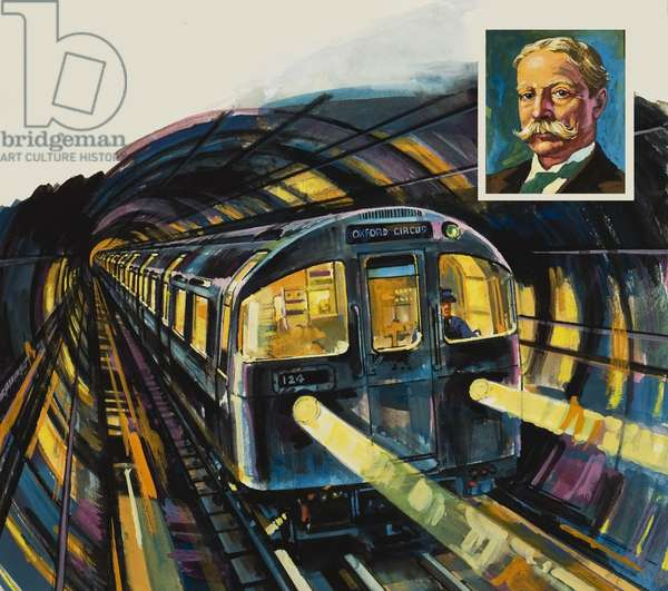 London's Underground (gouache on paper)