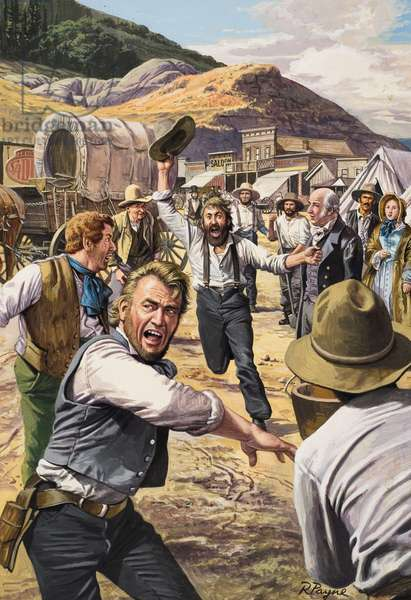 California Gold Rush (gouache on paper)