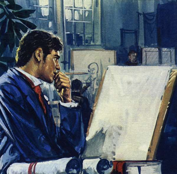 Manet was given a choice by his father: the civil service or the navy (colour litho)