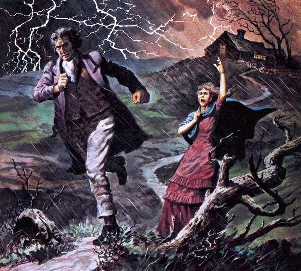 Heathcliff and Cathy, from the novel Wuthering Heights
