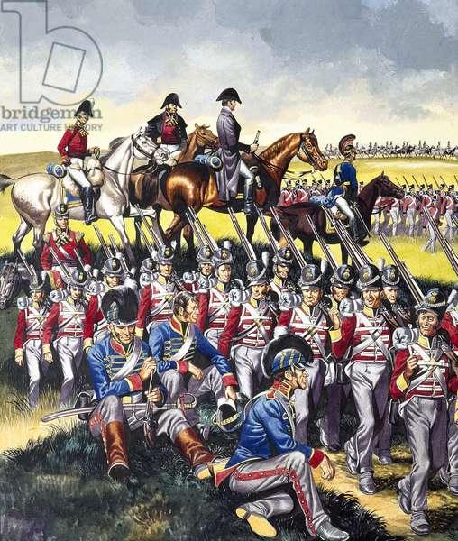 The Duke of Wellington (1769-1852) at Waterloo (gouache on paper)