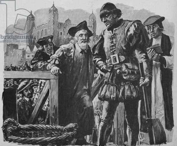 Execution of Sir Thomas More (litho)
