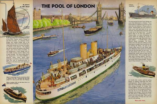 The Pool Of London (colour litho)