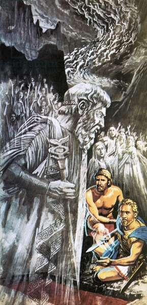 Tiresias warning Odysseus about the future