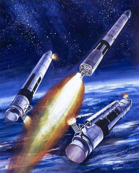 Titan IIIC rocket booster