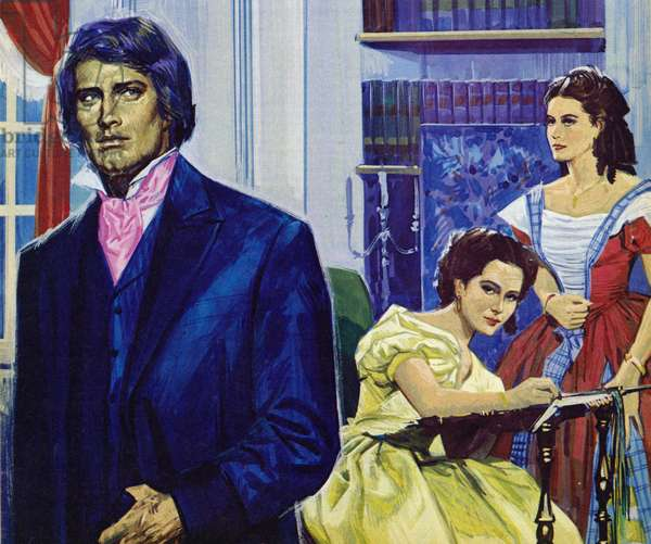 Illustration for Wuthering Heights (colour litho)