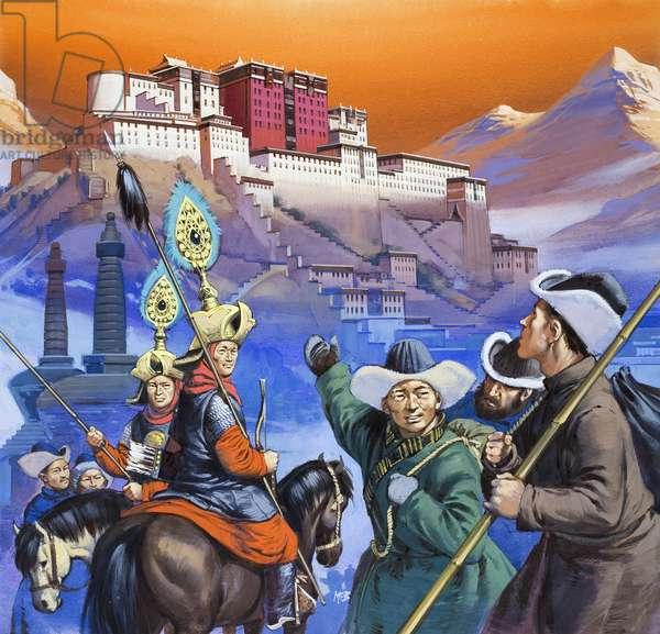 Tibet (gouache on paper)