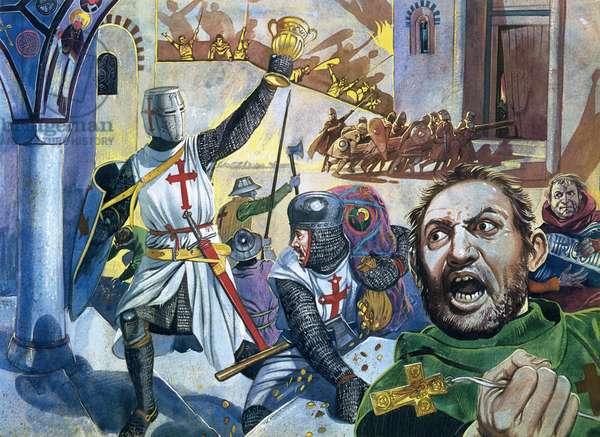 Crusaders looting Constantinople