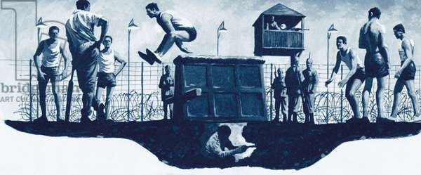 The Great Escape from Stalag-Luft III (litho)