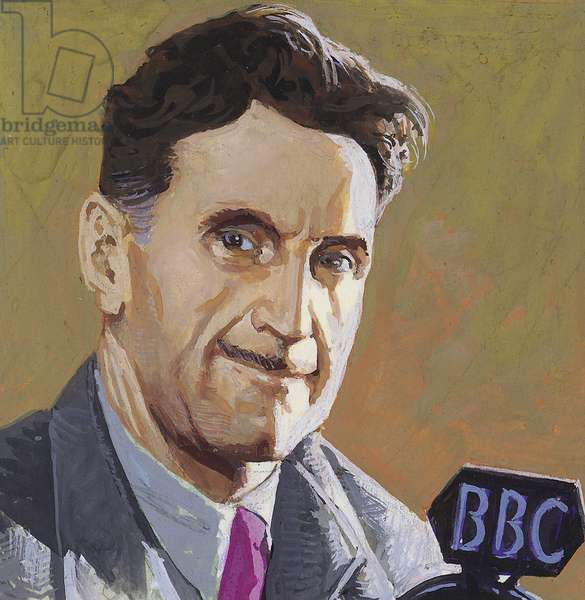 George Orwell (gouache on paper)