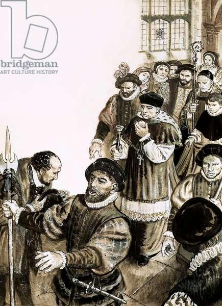 Thomas Wolsey (gouache on paper)