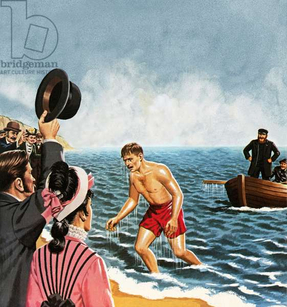 Matthew Webb, the first man to swim the English Channel in August 1875