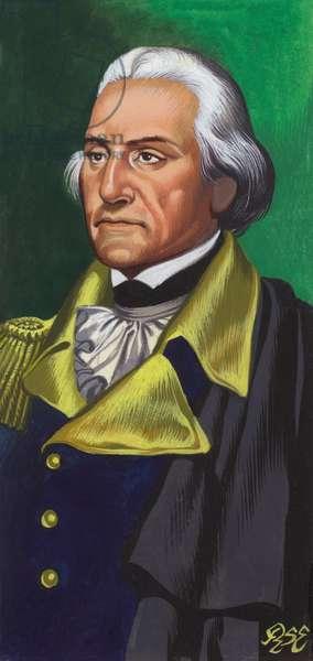 George Washington (gouache on paper)