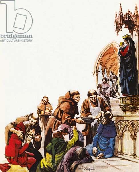 The Black Death (colour litho)