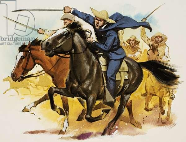 Sam Houston (1793-1863) (gouache on paper)