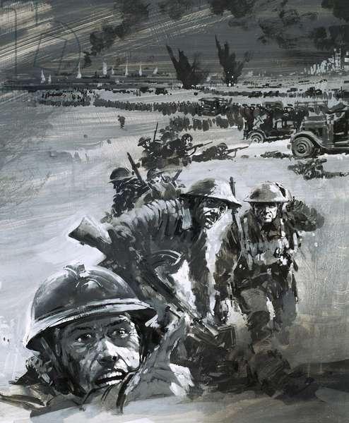 Dunkirk war scene