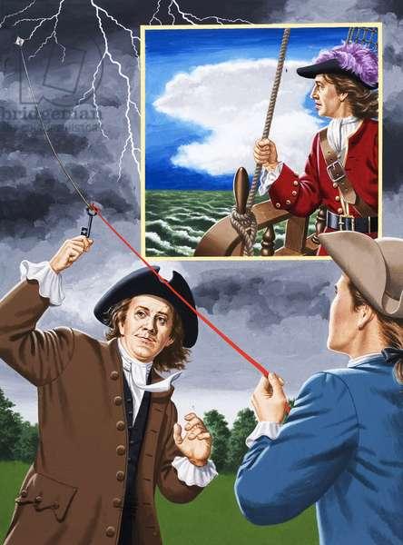 Some Eighteenth Century Weathermen (gouache on paper)