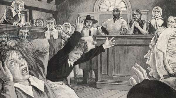 Salem Witch Trials (litho)