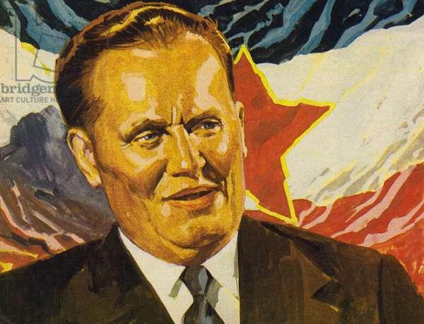 Marshal Tito (colour litho)