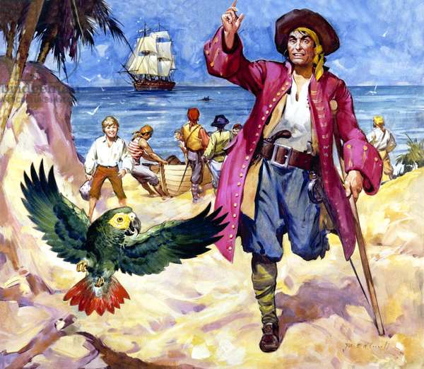 Long John Silver and his Parrot