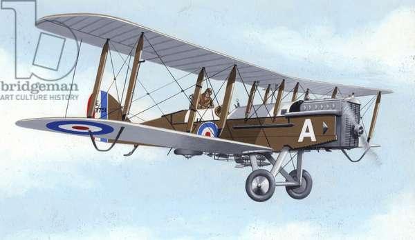 DH9A light bomber (gouache on paper)