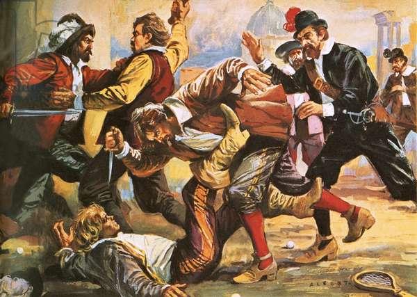 Caravaggio in a brawl