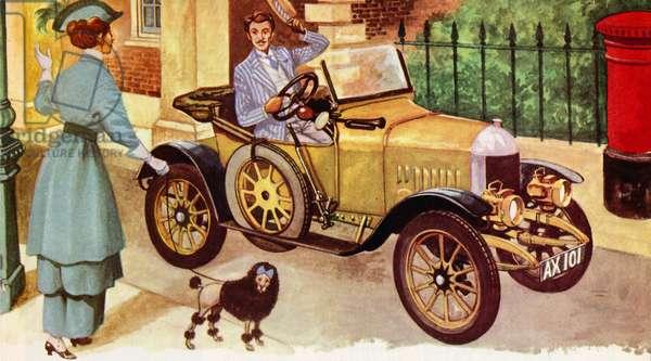 1914 Morris Oxford (colour litho)