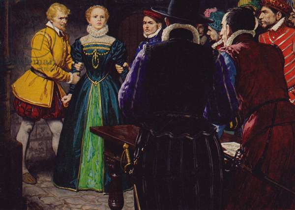 Mary Queen Of Scots (colour litho)
