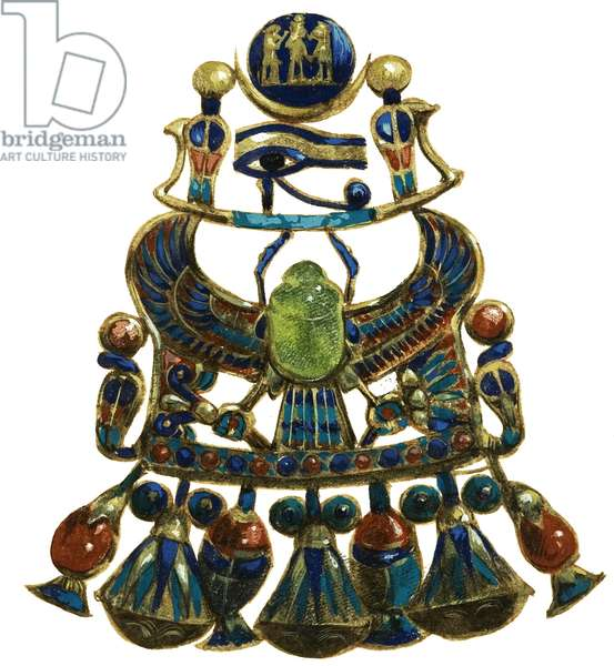 Amulet found in the tomb of the boy king Tutankhamen