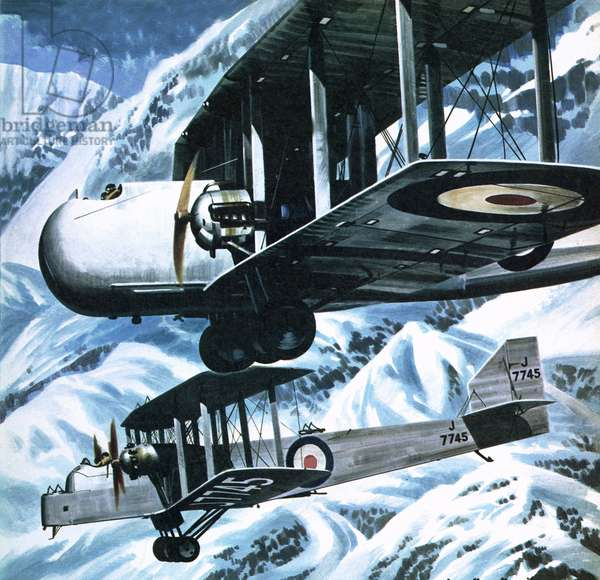 Vickers Victoria and a Handley Page Hinaidi carrying Europeans to safety in India in 1929 when Afghan rebels rose up against their king