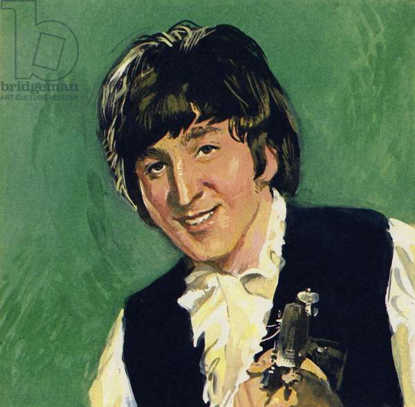 John Lennon of The Beatles (colour litho)