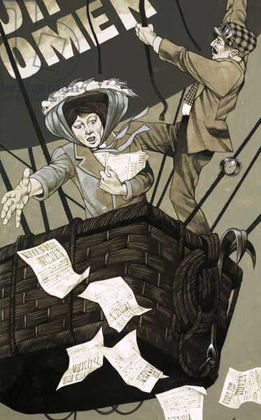 The suffragette movement takes to the air