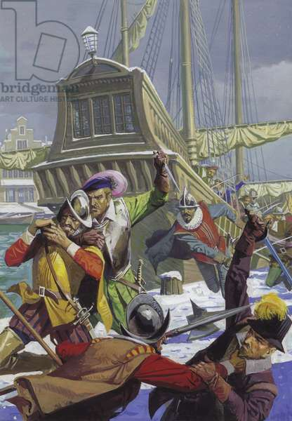 Averting the Siege of Breda (gouache on paper)