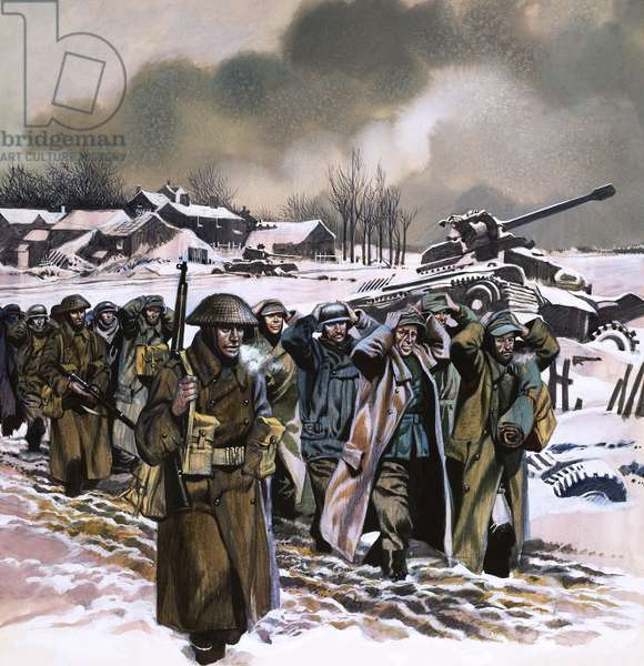 The Ardennes Offensive, 1963 (gouache on paper)
