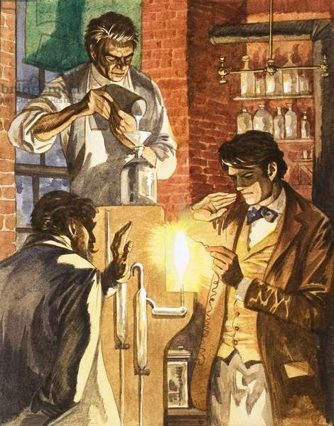 Thomas Edison and Joseph Swan create the electric light
