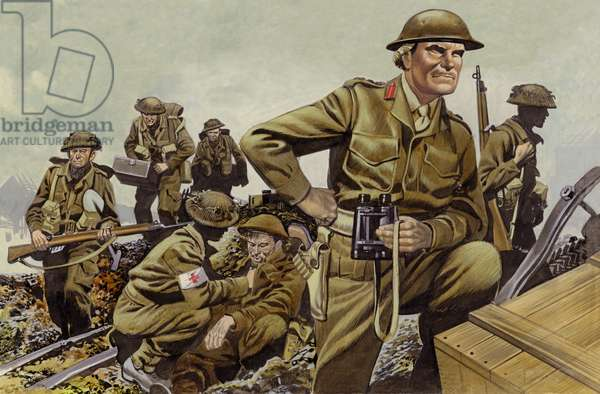 Freyberg led the New Zealand Expeditionary Force throughout World War II (gouache on paper)