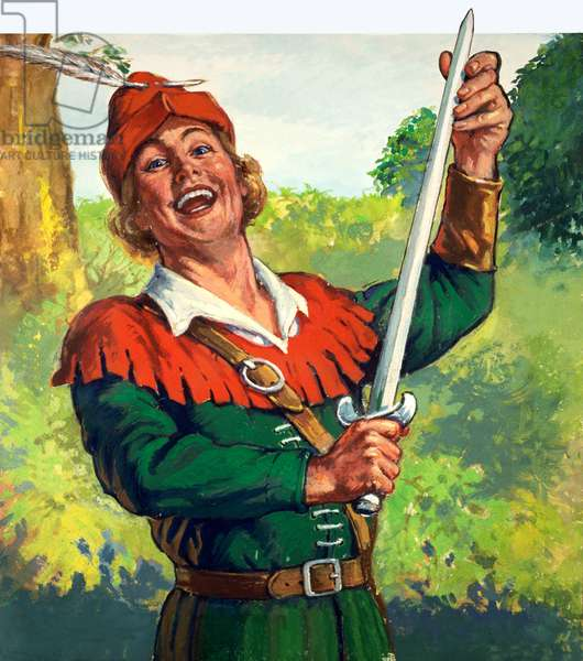 Robin Hood (gouache on paper)