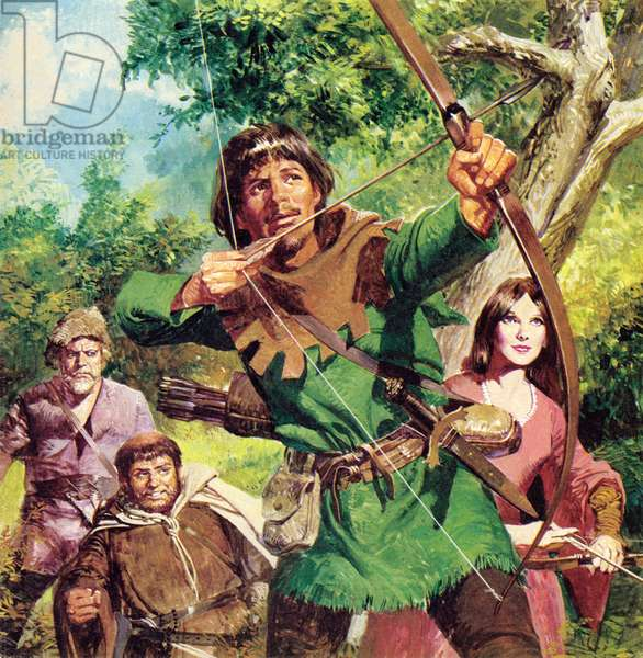 Robin Hood (colour litho)
