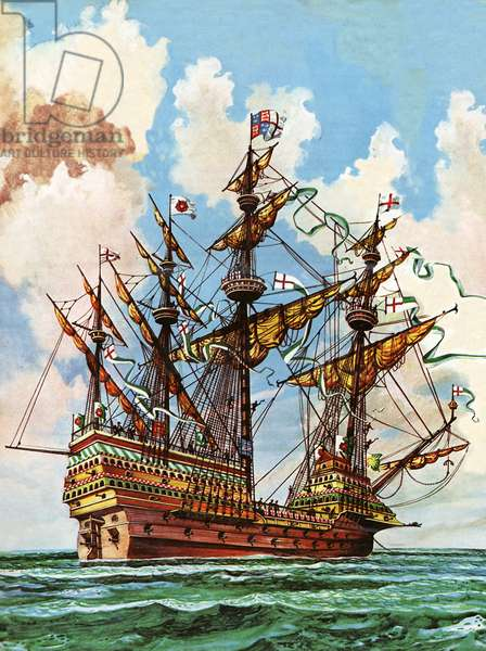 The Great Harry, flagship of King Henry VIII's fleet
