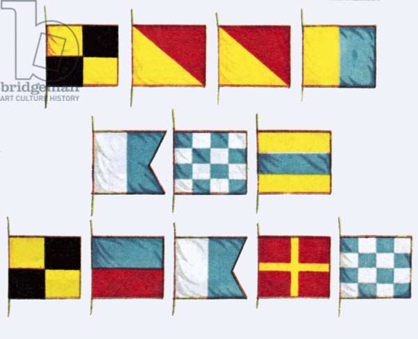 Signal flags, spelling Look and Learn