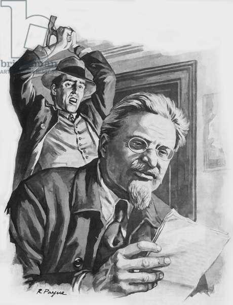 Death of Trotsky (litho)