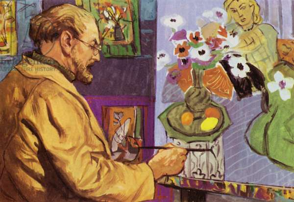 Henri Matisse painting (colour litho)